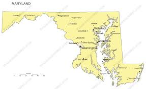 map of maryland with cities maryland powerpoint map major cities