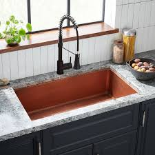 cabinet kitchen sink 36 hammered copper undermount sink kitchen