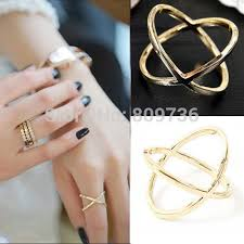 cross jewelry rings images Wholesale 24pcs new hot fashion korean punk gold silver plated jpg