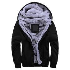 manluodanni men s fleece hooed hoo s thick wool warm winter