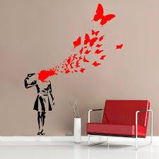 aliexpress com buy creative banksy butterfly blood vinyl