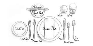 Formal Setting Of A Table Decked Out Dining At Home