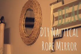 mirror frame decorating ideas decorating nautical rope mirror frame diy project easy and