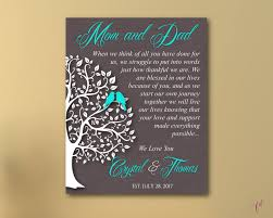 wedding gift to parents tree thank you gift parents wedding gift parents thank you