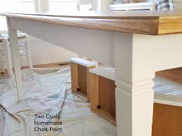 chalk paint farmhouse table farmhouse dining table makeover remodelando la casa