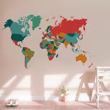 aliexpress com buy color world map wall sticker living room