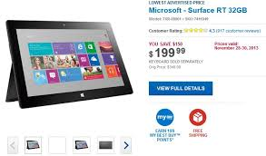 book black friday black friday deal from bestbuy surface 32gb model for just 199