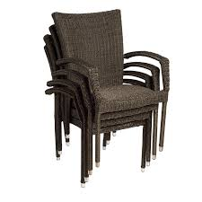 Patio Stack Chairs Shop International Home Atlantic Set Of 4 Gray Aluminum Wicker