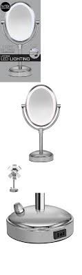 conair chrome magnifying countertop vanity mirror with light conair illuminated magnification mirror replacement bulb mirror