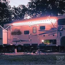 Camping Patio Lights by My Redneck Boyfriend Made These Awning Lights On Our Latest