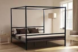Iron Platform Bed King Canopy Bed Ebay