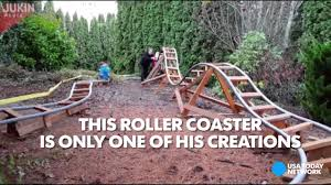 awesome dad builds backyard theme park youtube