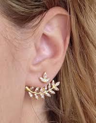 back earrings pearl 360 studs
