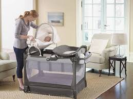 Graco Pack And Play With Bassinet And Changing Table Graco Pack N Play Playard With Cuddle Cove Glacier Walmart