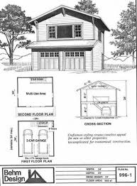 craftsman style garage plans craftsman style two story 2 car garage plan 996 1 by behm design