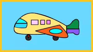 coloring kids color aeroplane lovely video