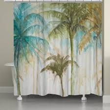 Palm Tree Shower Curtain Walmart by Laural Home Watercolor Palm Trees Shower Curtain Walmart Com