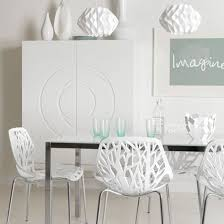 White Modern Dining Chairs The Marengo Leather Contemporary Dining Chair In Black Brown Or