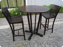 High Bistro Table 305 Design Center Teak Indonesian Patio And Outdoor Furniture