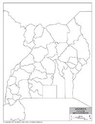 uganda map vector outline map of uganda with provincial state boundaries by
