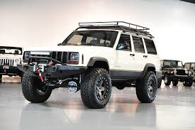 modded white jeep davis autosports jeep cherokee xj sport lifted stage 3 for sale