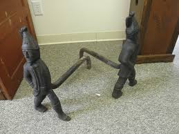 fireplace andirons for sale antiques com classifieds