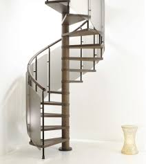 contemporary common spiral staircase with brown powder coated