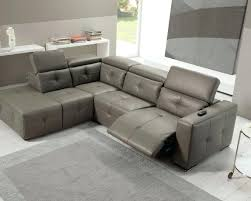 Grey Leather Reclining Sofa Diego Leather Recliner Corner Sofa Group Grey Small Cameo Manual