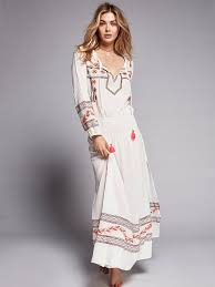 boho maxi dress embroidered boho maxi dress mystical white with colorful