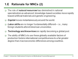 Universities As Multinational Enterprises The Multinational Chapter 1 Introduction Multinational Enterprise And Multinational