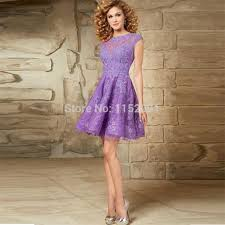 open back sheer new lace a line short purple homecoming