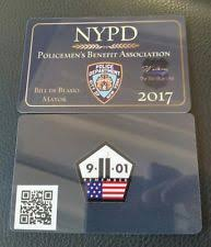 Nypd Business Cards Nypd Pba Police Ebay