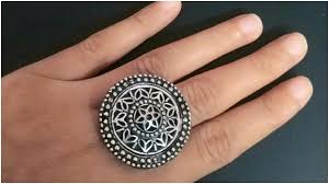 round metal rings images New style of black metal round shaped finger ring design jpg