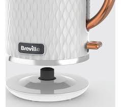 4 Slice Toaster White Buy Breville Curve Vkt018 Jug Kettle White U0026 Rose Gold Curve