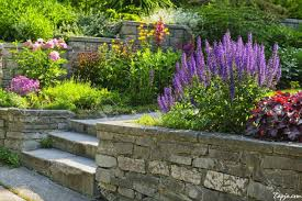beautiful decorating backyards ideas with colorful flower garden beautiful decorating backyards ideas with colorful flower garden design as well stone fence in the near