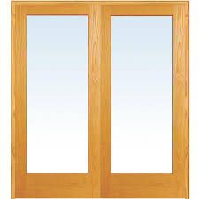 Home Depot Pre Hung Interior Doors Mmi Door 74 In X 81 75 In Classic Clear Glass 1 Lite Unfinished