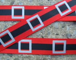 santa belt ribbon santa belt etsy