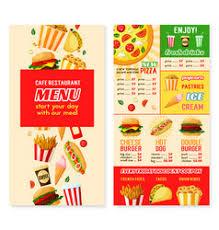 fast food restaurant menu price template vector image