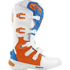 661 motocross boots scott 350 mx boots white blue offroad sale retailer best selling