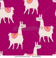 llama wrapping paper seamless pattern llama background wrapping stock vector