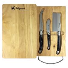laguiole by louis thiers 3 piece cheese set with cheese board