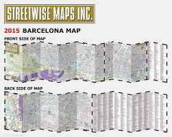 Map Of Barcelona Streetwise Barcelona Map Laminated City Center Street Map Of