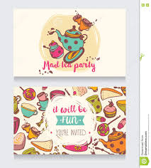 Tea Party Invitation Card Invitation Card For Mad Tea Party Or Cute Funny Business Card For