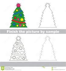 Decorate Christmas Tree Worksheet new year tree drawing worksheet stock vector image 70129241