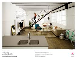 silestone print advert by bungalow silestone authentic life 4