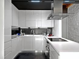 Modern Kitchen Design White Cabinets Gloss For Decorating - Modern white cabinets kitchen