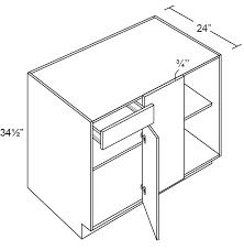 corner base cabinet for kitchen fabuwood prima blanco 42w blind corner base cabinet