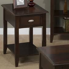 jofran merlot chairside table for small spaces jofran