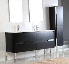 60 Inch Bathroom Vanity Single Sink by Adornus Caren 60 Inch Double Sink Black Finish Modern Bathroom Vanity