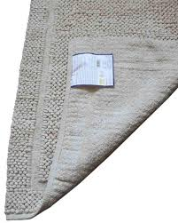 organic cotton chenille shaggy rug natural colour homescapes